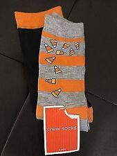 HALLOWEEN 2 Pairs of Socks 1-Candy Corn & 1 Black & Orange Women's One Size NEW