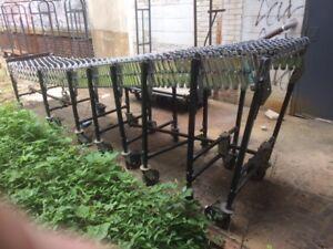 """CONVEYOR Rollers Steel Skatewheel Used 24"""" X 24' Expanding Warehouse Equipment"""