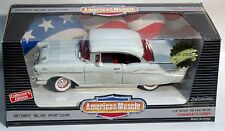 ERTL 1/18 1957 Chevy Bel-Air Sport Coupe WHITE Hardtop 7768 American Muscle '57