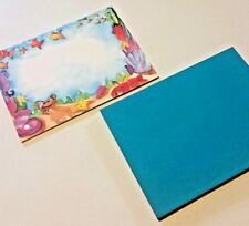 Under the Sea 10 Blank Invitations & Envelopes 5x7 ~ New ~ Colors By Design
