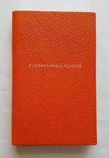 SMYTHSON PANAMA 'CLERKENWELL CLIQUE' NOTEBOOK in Orange RRP £45.00 BN