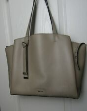 NEW Nine West Light Taupe Gaya Smooth Faux Leather Tote