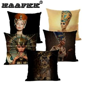 Fashion character cushion cover high quality linen home sofa decoration pillow