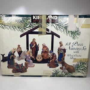 Kirkland Signature 75177 Nativity Set 13 Pieces in BOX Nice Condition