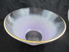 vintage large salad/serving bowl pink fade luster gold rim 60s/70s