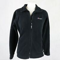 Womens BERGHAUS Polartec Thermal pro Fleece Full zip Jacket Size UK 10 Black