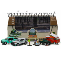 GREENLIGHT 58031 CAMPSITE CRUISERS US FOREST SERVICE USFS 1/64 7PC SET