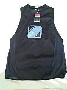 Nike chill vest with elasticated side ventilation panels dri fit fabric logo