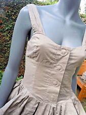 khaki parachute sleeveless  Dress In Uk 8 ALL SAINTS hippy boho festival ready