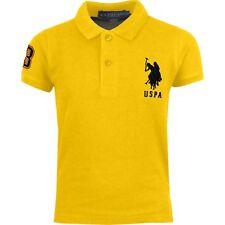 Kids US Polo Assn USPA Boys Children PE School Cotton Polo T Shirt Top Age 4-12