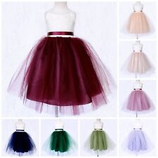 Lace Ivory 2 Layer Multicolor Tulle Dress Spring Summer Wedding Birthday Party