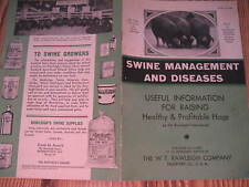 Antique Vtg 1930's Rawleigh SWINE Management and Diseases Information Booklet