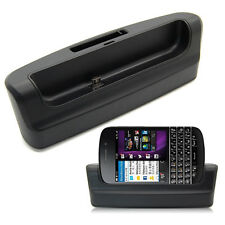 Micro USB Desktop Sync Cradle Dual Charger Dock  For BlackBerry Q10  BB Q10