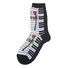 Women's Rose Music Keyboard Socks Size: 9-11