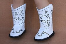 Doll Clothes fitting 18 in American Girl Western White Eagle Boots