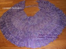 Lavendar Jaipur Wrap Skirt Gypsy Tribal Fusion Belly Dancel ATS