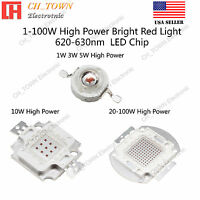 1W 3W 5W 10W 20W 30W 50W 100W Red 620-630nm High Power SMD LED Chip COB Lamp