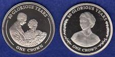Gibraltar, 2006, 2x Prooflike Crown, 80 Glorious Years Series (Ref. t1401)
