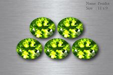 11x9 MM EXQUISITE BEST AAA GREEN PERIDOT 100% NATURAL UNHEATED PAKISTAN 5-PCS !!