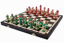 Brand New Hand Crafted  Babushka Chess Set 41cmx41cm