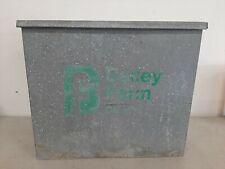 Vintage Bailey Farm Dairy Galvanized Porch Milk Box