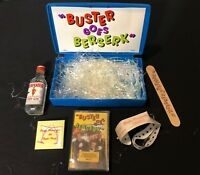 BUSTER POINDEXTER 'BUSTER GOES BERSERK' 1989 PROMO BOX w/CASSETTE, PIN & MORE