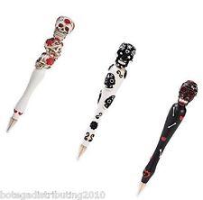 Set Of 3 Pens Day of The Dead  Sugar Skull Pen Dia De Los Muertos Ball Point
