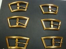 Belt Buckles 6 Brass Colored