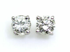 14 Carat White Gold SI2 Fine Diamond Earrings