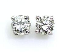 0.25 Quilates Diamante pendientes en 14k Oro Blanco