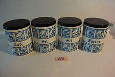 C65 Ensemble de 4 pots de cuisines vintage sel ...