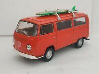 1/43 VOLKSWAGEN VW BUS T2 SURF FURGONETA COCHE METAL A ESCALA SCALE DIECAST