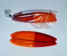 Porsche 356 European Tail Light Lens Set Red/Amber Euro  - Italian Made