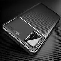 For Samsung Galaxy A02S A12 A42 A32 5G Slim Silicone Carbon Fiber TPU Case Cover