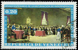 Scott # 813 - 1962 - ' Independence Meeting of April 19, 1810. Led by Miranda '