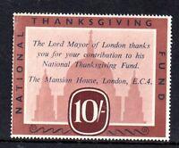 GB 1950 10/- National Thanksgiving Fund Cinderella WS12372