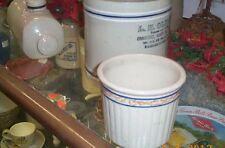Vintage Rare Red Wing Gray Line Sponge band Beater Pantry Jar Stoneware Crock