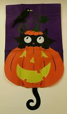 NIP Celebrate It garden flag - Who's Glad It's Halloween? **FREE SHIP IN USA**