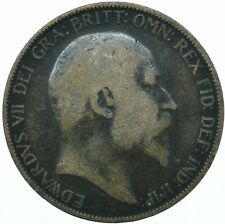 1906 ONE PENNY COIN EDWARD VII GREAT BRITAIN BEAUTIFUL COLLECTIBLE    #WT31314