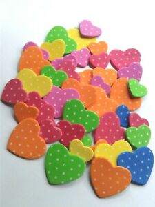 Kids crafts stickers hearts themed foam material sticky cute small multi color