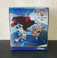 Kleenex Box Tissue Salt Lake City 2002 Olympics Official Mascots Skating Winter