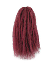 CYBERLOXSHOP MARLEY BRAID AFRO KINKY HAIR BURGUNDY RED DREADS SYNTHETIC