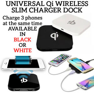Universal Qi Wireless Charger Dock Square Charging Slim Pad Mat For Google 3/4XL