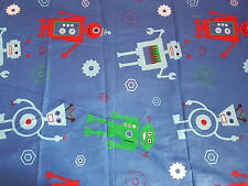KIDS CHARACTER DUVET SET WITH FITTED SHEET (ROBOT) - SINGLE - NEW
