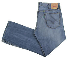 Levis 527 Blue Jean 38x31 Low Boot Cut Medium Cotton Denim Whiskering 5 Pockets