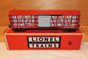 Postwar Lionel #6434 Orange Poultry Dispatch Car W/OB 1958-1959~Nice Original!