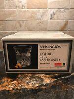 Vintage Fostoria Bennington Double Old Fashioned Set Of Four Glasses, Never Used