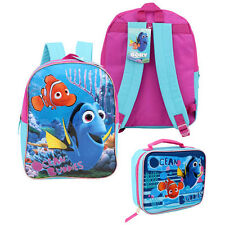 "Backpack 15"" + Lunch Finding Dory Nemo Ocean Buddies & Fun Sea Surf Girl New"