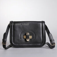 Authentic Tory Burch Black leather Purse Box shoulder Bag Messenger NEW RARE