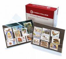 Pack de 100 cartes de classement à 3 bandes pour timbres, format C6.